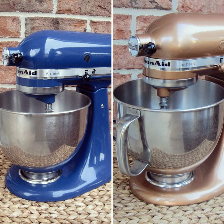 Spray Paint Your Kitchenaid Mixer - Hammered Copper Finish! Don't spend $600 for a different finish or color of your mixer. Instead, spend $8 and a little bit of your time and effort! See just how easy it is, thanks to The Project Lady! http://www.rustoleum.com/product-catalog/consumer-brands/universal/universal-hammered-spray-paint/