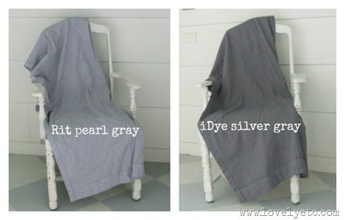 gray dyes  Rit Pearl Gray for lighter...Idye Sliver gray for darker.