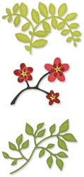 Sizzix Sizzlits Die Set 3/Pkg: Die Cut, Craft, Set 3 Pkg, Leaves, Branches