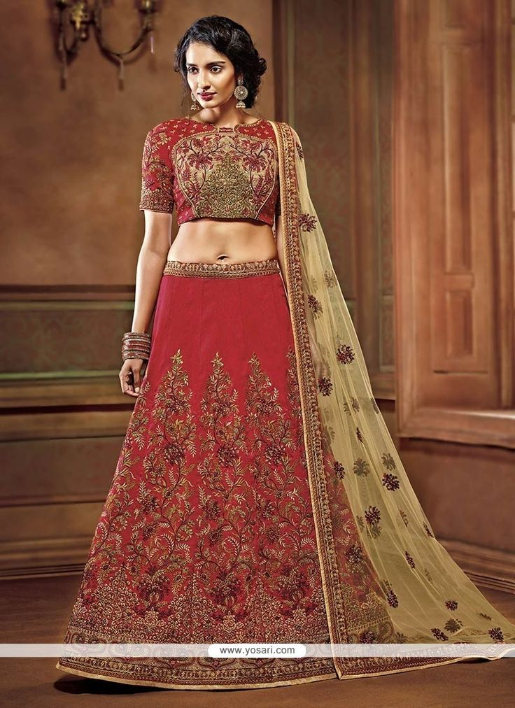 Divine Art Silk Resham Work Lehenga Choli Model: YOLEN4039