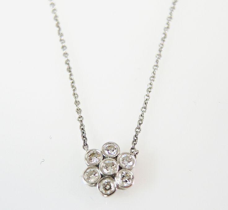 Tiffany Diamond Enchant Flower Necklace #tiffany #diamond #enchant