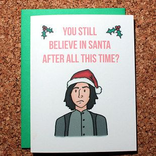 """This adorable Snape card. 