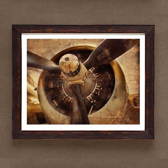 "Fine Art Print: - ""Vintage WWII Airplane Prop"" -8"" x 10"" print - Historic Aircraft print, Aviation art on Etsy, $13.25"