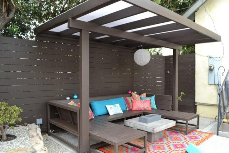 Modern pergola patio and deck pinterest modern pergola and pergolas - Pergola en kit aluminium ...