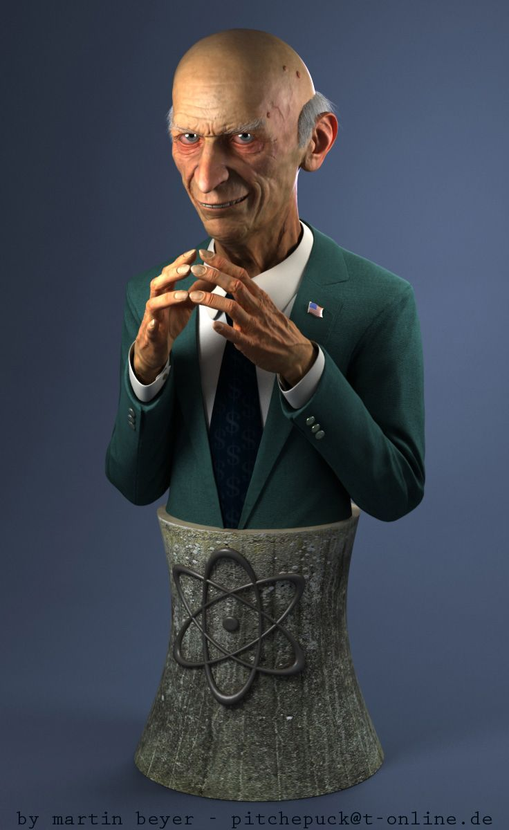 Mr. Burns bust by ~monomauve on deviantART