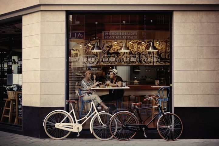 Love elegant bicycles (brand: Creme Cycles): Coffee Shops, Bicycles, Style, Bikes, Café, Cafe, Places