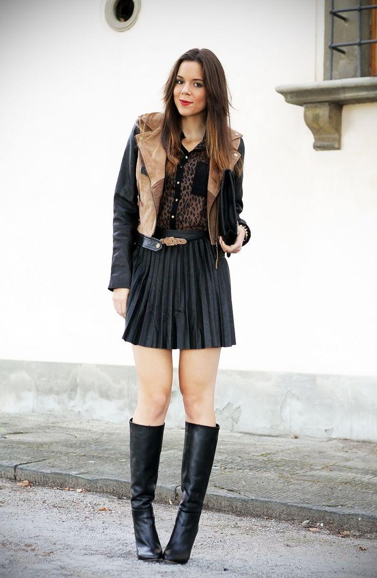 #fashion #fashionista Irene giacca con maniche in pelle