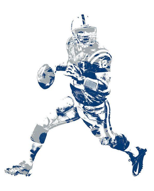 8f5a5c0a Andrew Luck Indianapolis Colts Pixel Art 7 Art Print by Joe Hamilton ...