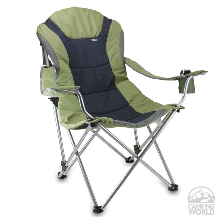 Gift idea for dad.  Reclining Camp Chair- Sage Green - Picnic Time 803-00-130 - Folding Chairs - Camping World