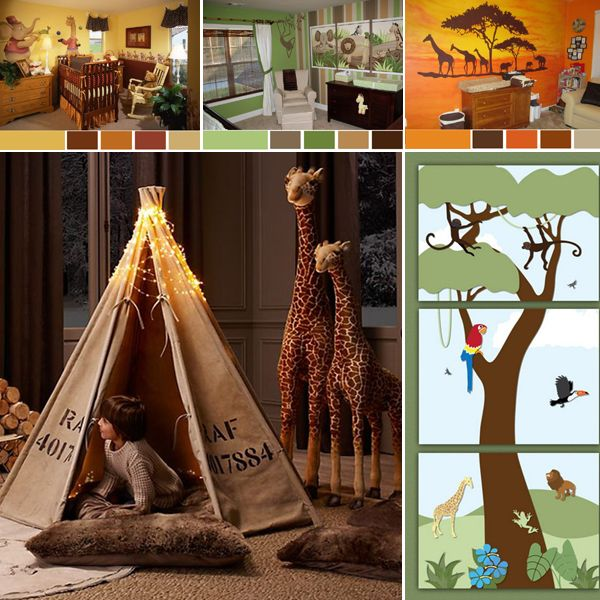 Jungle style for a kids' room - Easily