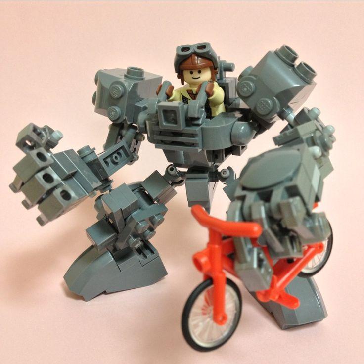 フィグ乗り小型ロボ「Gorilla」できました。パワーと器用さで様々な力仕事をこなします。放置自転車の撤去も得意ですw
