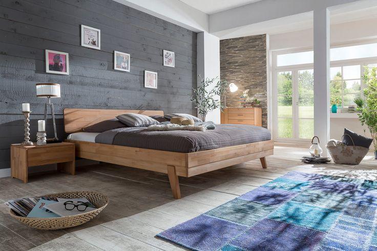LIVIA Bett Doppelbett 180 x 200 Kernbuche Buche massiv geölt Woodlive (Betten) - Möbel günstig kaufen