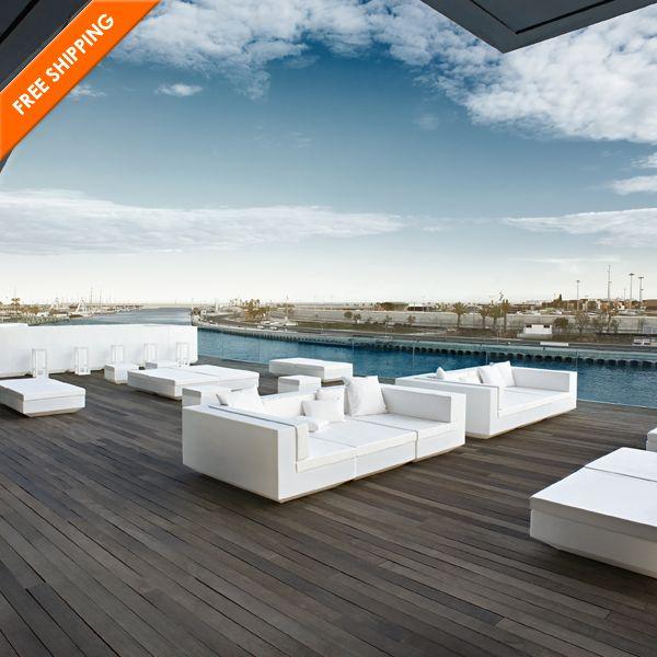 Vondom Vela Resin Sectional Sofa Right