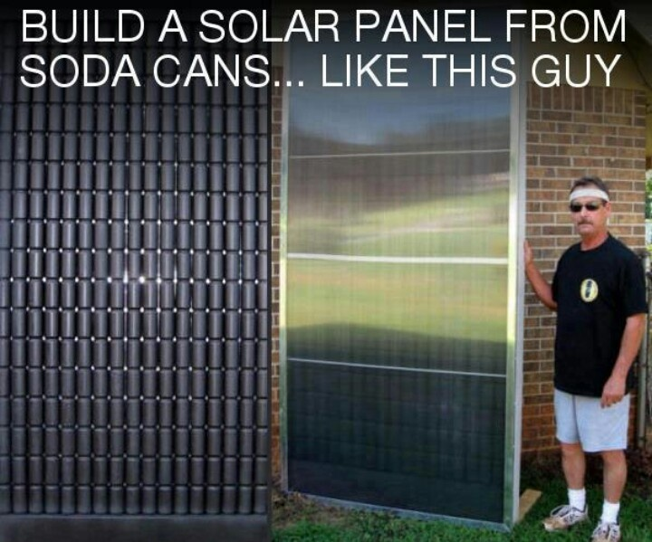 solar panel from soda cans diy projects pinterest