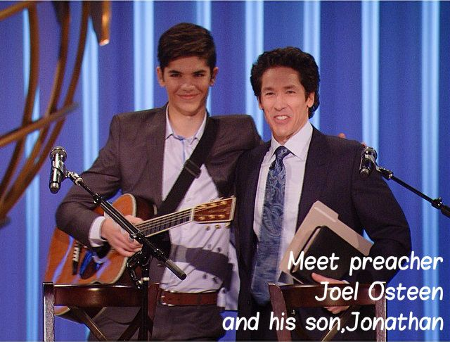 joel osteen and his sonjonathan from lakewood church