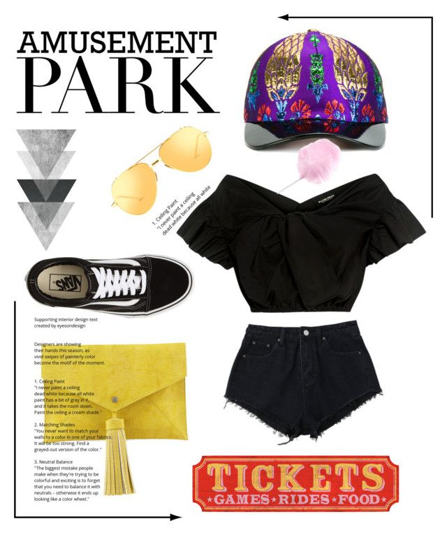 """#amusement park"" by nancykou on Polyvore featuring Gucci, Linda Farrow, Rachel Comey, Vans, Neiman Marcus, amusementpark and 60secondstyle"