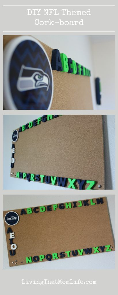 Diy Nfl Themed Cork Board Go Seahawks Easy To Make
