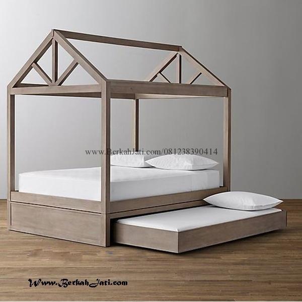 Jual Tempat Tidur Anak Minimalis Sorong Rangka Rumah Merupakan produk mebel Bufet Tv Minimalis dengan bahan Kayu Jati Solid