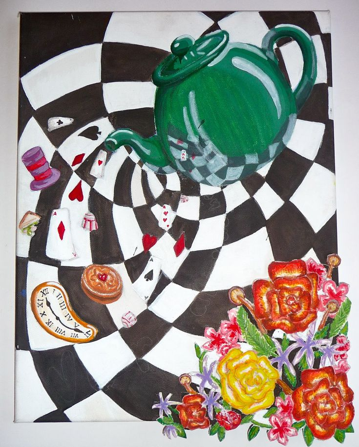 23 best atc images on pinterest artist trading cards Alice and wonderland art projects