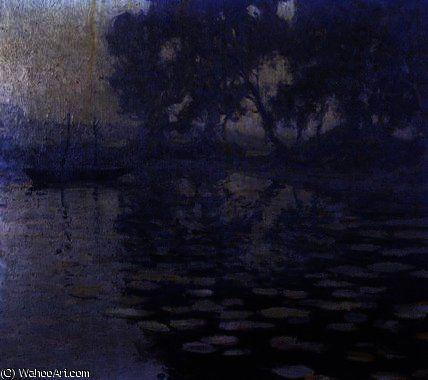 L étang du moulin de Paul Madeline (1863-1920, France)