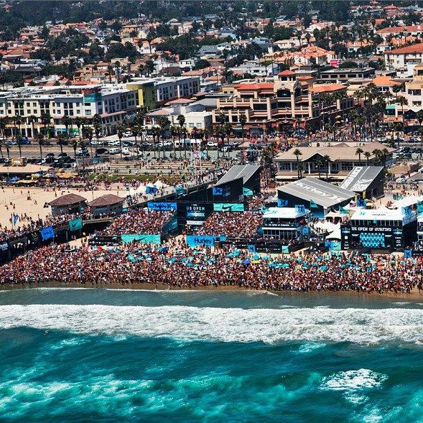 Us Open of Surfing , Huntington Beach.