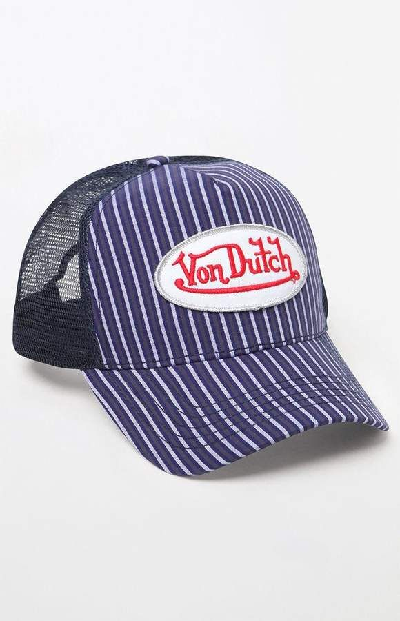 4f425419 Von Dutch 272 Striped Snapback Trucker Hat #affiliatelink | How to ...