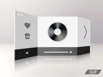[animation] Radio Player v2 animation show by Liushui