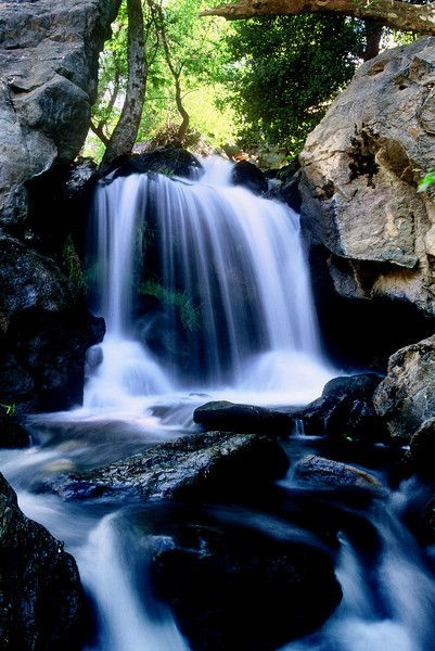 Bouquette Falls Angeles National Forest Near Santa Clarita, California