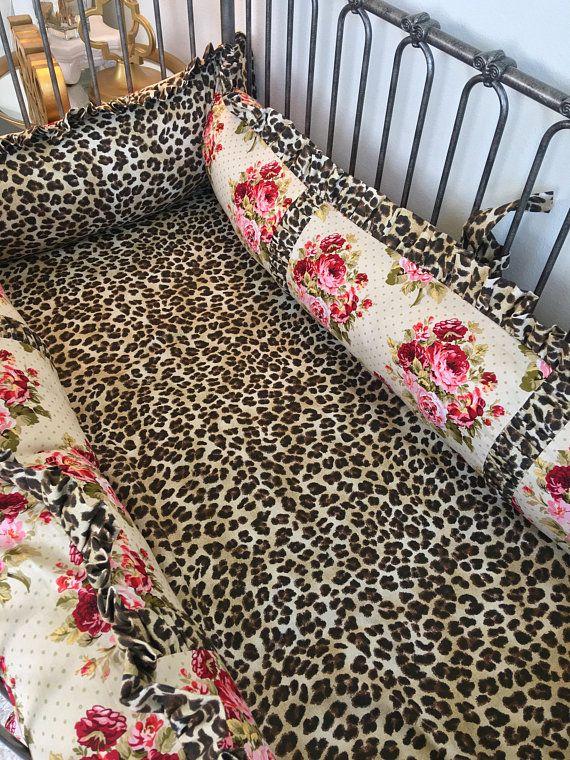 Girl Leopard Baby Crib, Leopard Baby Bedding