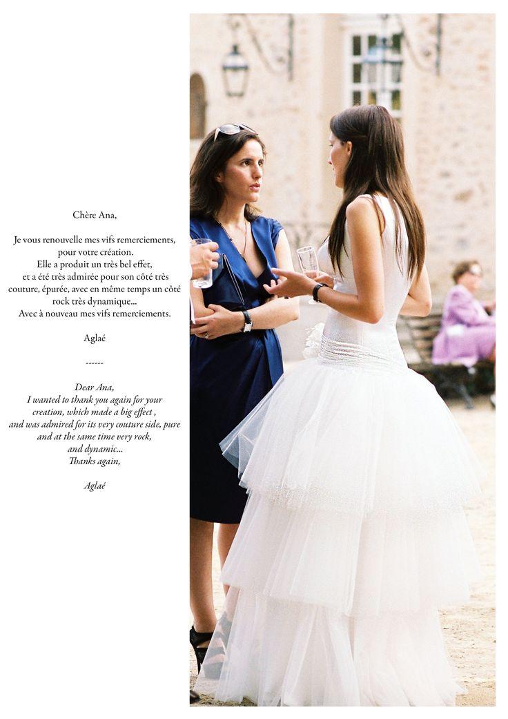 Aglaé, dans la robe ELISA. Aglaé, in the gown ELISA.