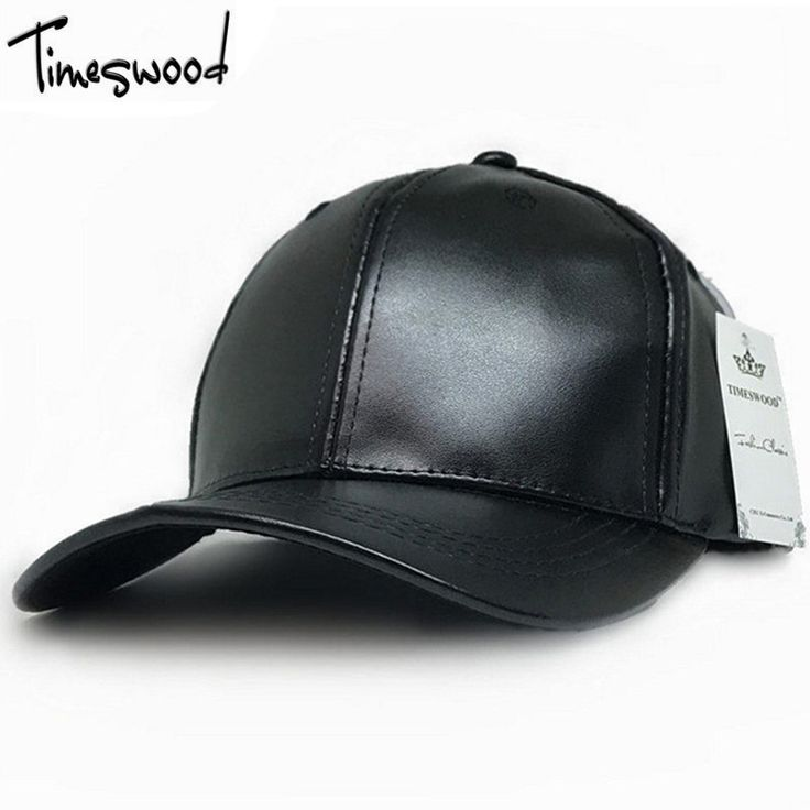 [TIMESWOOD] New Faux Leather Baseball Cap Plain Black Bone 6 Panel Hats Men Women Spring Fall Solid Blank Adjust Hat Wholesale #Affiliate