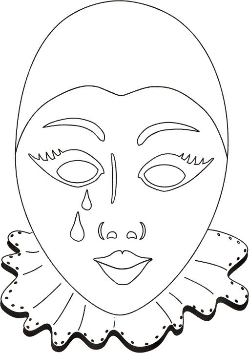 venetian_masks_5 Adult coloring pages