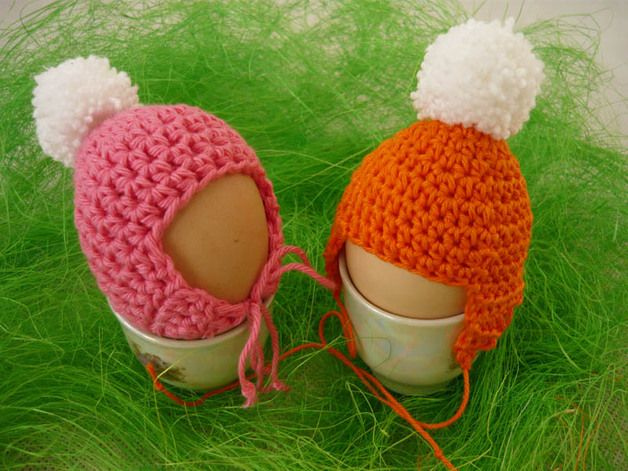 Eggs warmers - copings – a unique product by MariaArt on DaWanda Beautiful eggs warmers will be great decoration of Easter table. Thanks to them, eggs will be longer warm. #Easter #Eggswarmers #MariAndAnnieArt #Wielkanoc #ocieplacze