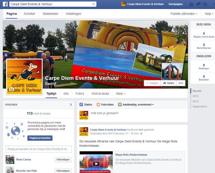 Facebook pagina Carpe Diem
