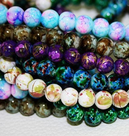 Cheap beaded kaftan, Buy Quality bead hanger directly from China beaded sheep Suppliers:  2015 New Arrival 6MM 140pcs/lot Bead Round Assorted Colorful Glass Beads For Women Bracelet making Wholesale or Retail