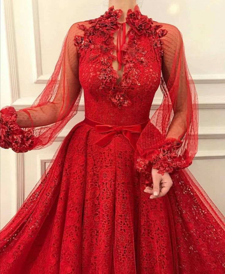 Red dress in 2020   Dress shapes, Colorful dresses, Gowns ...