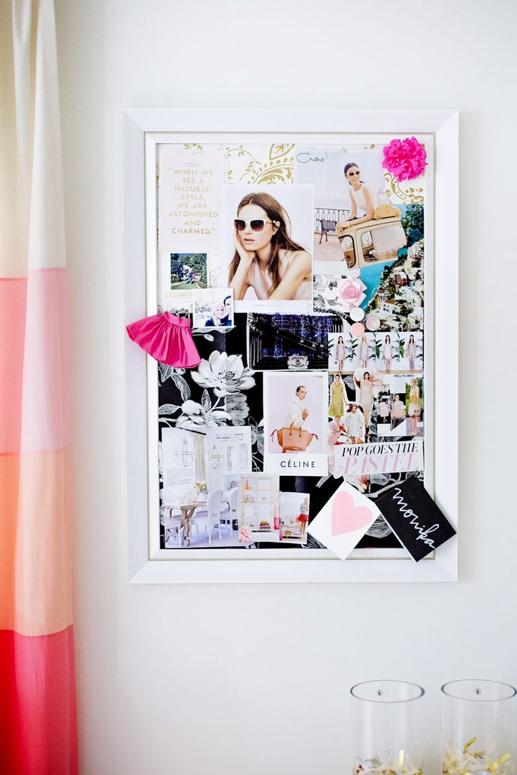 #bulletin-boards, #inspiration-board  Photography: Jamie Lauren Photography - jamielaurenphotography.com/  Read More: http://www.stylemepretty.com/living/2014/03/24/behind-the-blog-with-the-doctors-closet/