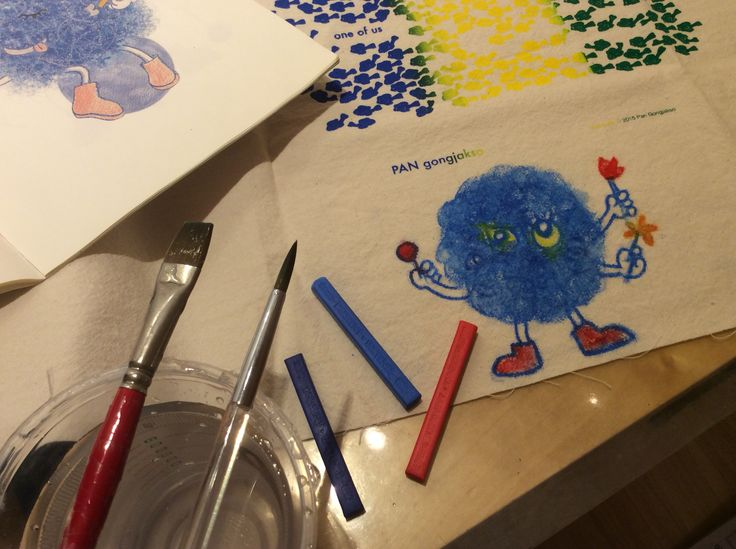 Which color monster are you? - Blue monster! drawn with Inktense blocks. by Pan Gongjakso