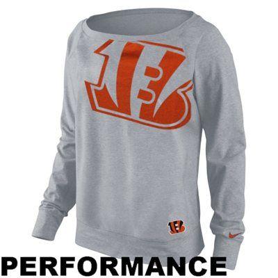 Nike Cincinnati Bengals Ladies Wildcard Epic Tri-Blend Performance Sweatshirt - Ash