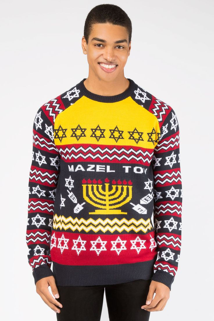 Guys Mazel Tov Sweater