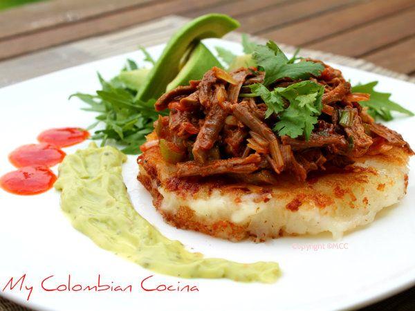 My Colombian Cocina - Arepuelas de Yuca con Carne Desmechada
