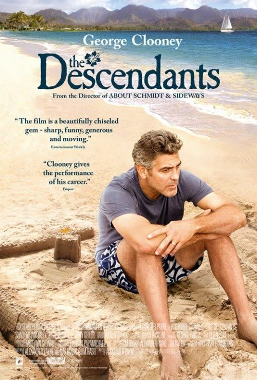 The Descendants - George Clooney, Shailene Woodley. A land baron tries to reconnect with his two daughters after his wife is seriously injured in a boating accident. 04/02/12