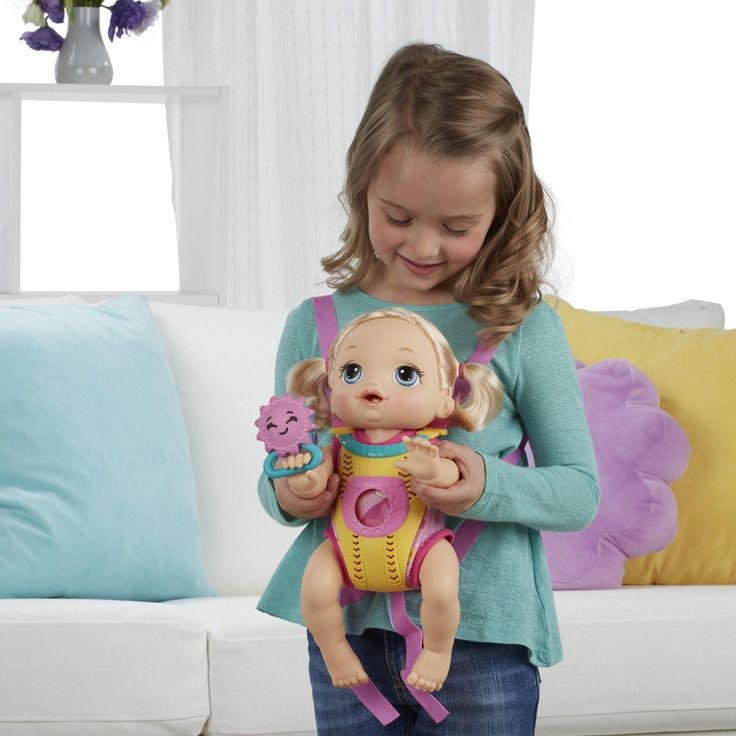 Baby Alive Baby Go Bye Bye Blonde doll set girls interactive toy | eBay