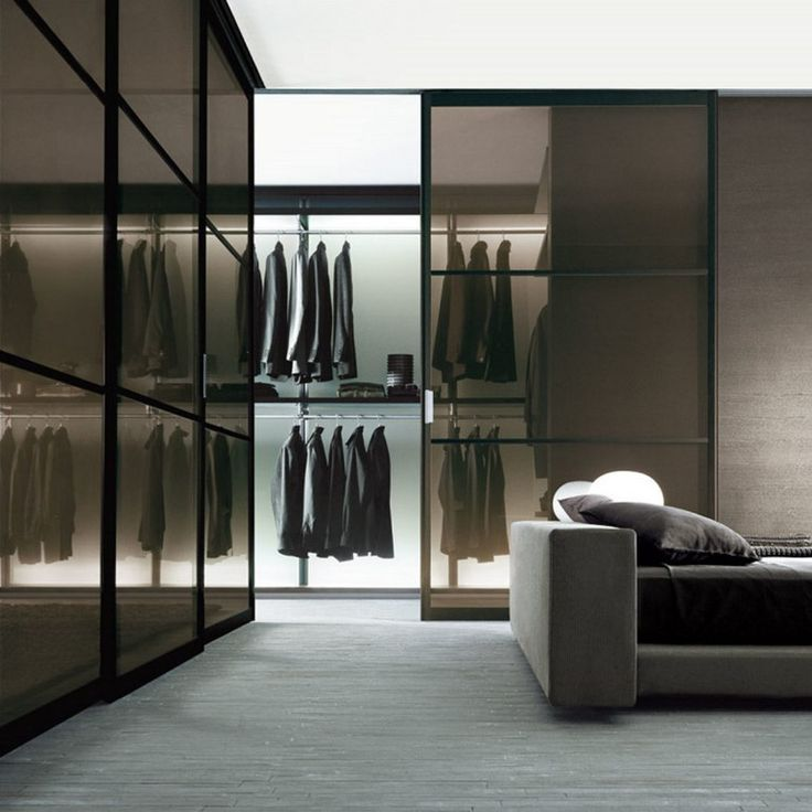 Modern walk-in closet with clean shapes and forms  www.bocadolobo.com #bocadolobo #luxuryfurniture #exclusivedesign #interiodesign #designideas #walkinclosetideas #bedroomideas #walkinclosets