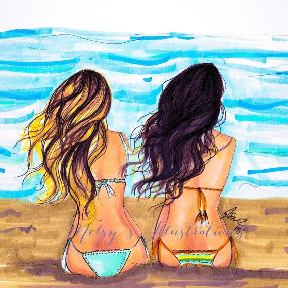 TONE IT UP GIRLS Beach Waves  by Melsys on Etsy