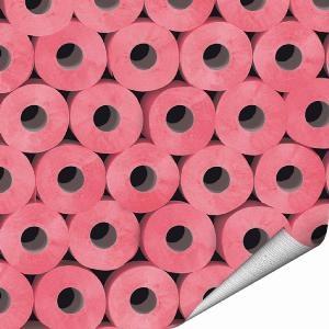 Papier peint toilette wc rose, Koziel revisite avec culot le petit coin pour en faire un lieu résolument dans le vent...sur www.shopwiki.fr ! #decoration_murale #papier_peint  #decoration_maison