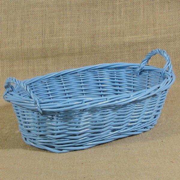 Wiklinowy koszyk na pieczywo kol. błękitny
