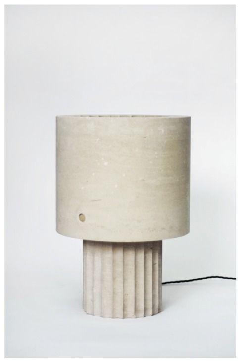 Max Lamb, Small Portland Limestone Lamp, 2014, Johnson Trading Gallery