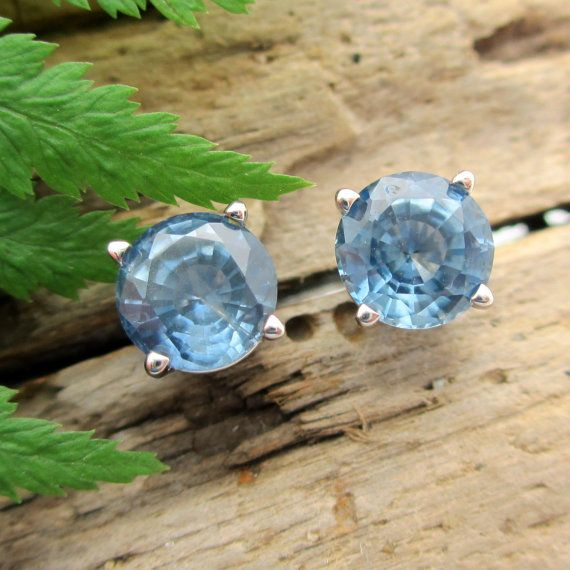 Montana Sapphire Earrings in Palladium  Blue Sapphire by jetflair, $1450.00