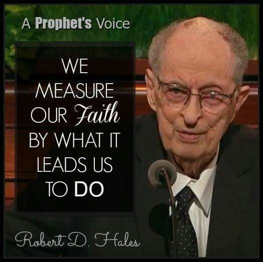 We measure our faith by
